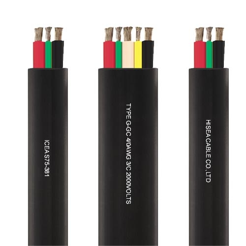 Flat Power Wire 8mm: Type G-GC Flat Portable Power Cable 2KV