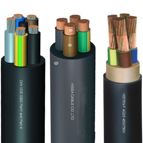 Rubber Insulated Cable : H rn f rubber insulated flexible cable v