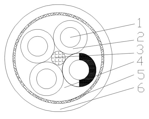 high flexible energy chain shield power cable diagram